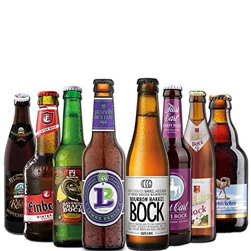 Bockbier Paket von BierSelect - 8 Flaschen Bockbiere in einem Geschenkpaket - 8 Flaschen in einem...