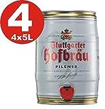 4 x Stuttgarter Hofbräu Pilsner 5 L Partyfass 4,9% vol.