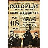 Lorenzo Coldplay The Viva La Vida Tour Vintage Metall Eisen Malerei Plaque Poster Warnschild...