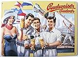 Budweiser Bier Blechschild - Segelschiffszene schiff Segeln Budvar 7