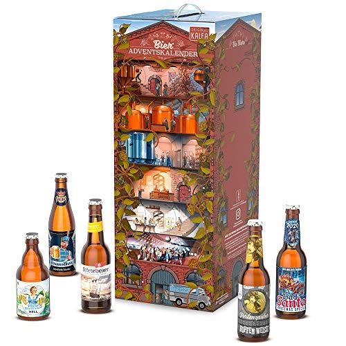 KALEA Bier Adventskalender 24 deutsche Biere aus Privatbrauereien 2020, Premium Biere, Geschenk für...