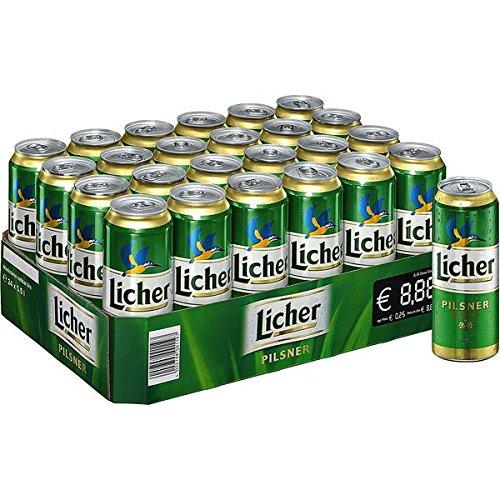 Licher Pilsener Dosenbier (24 x 0,5l) inkl. 6 Euro DPG Pfand EINWEG