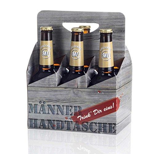 Sixpack 2 x Arschlecken 350, 2 x Hopfensprudel, 2 x Hopfensmoothie in der Männerhandtasche Original...