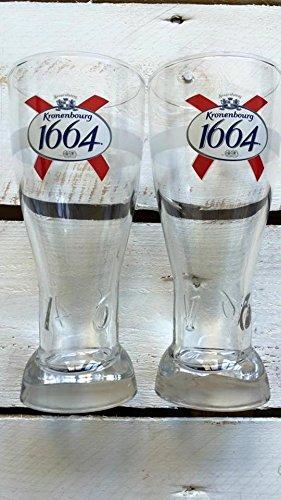 Kronenbourg 1664 Bier Gläser (2X Kronenbourg 0,25l)