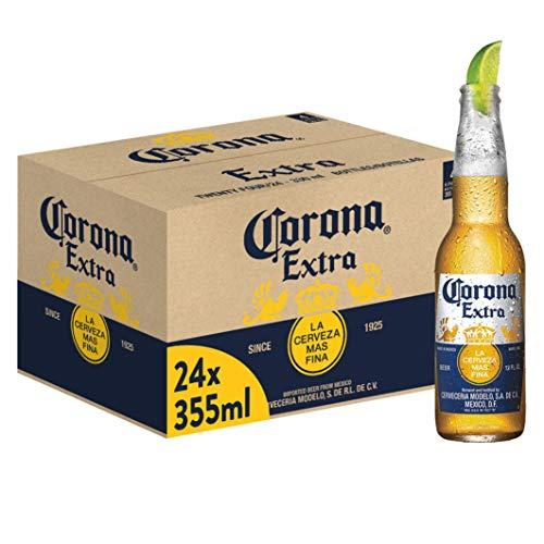 Corona Extra Premium Lager Flaschenbier, MEHRWEG (24 x 0.355 l) im Karton, Internationales Lager...