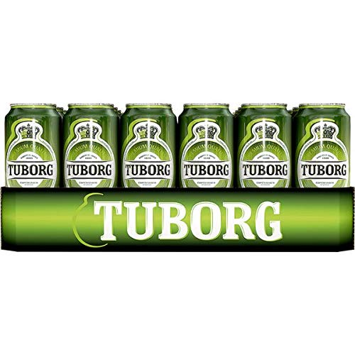 24 Dosen Tuborg Bier a 0,5L Liter Bier inc. 6.00€ EINWEG Pfand