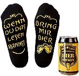 Bier Socken Herren, Bier Geschenk für Männer, lustige Socken m. Wenn Du das Lesen Kannst bring mir...
