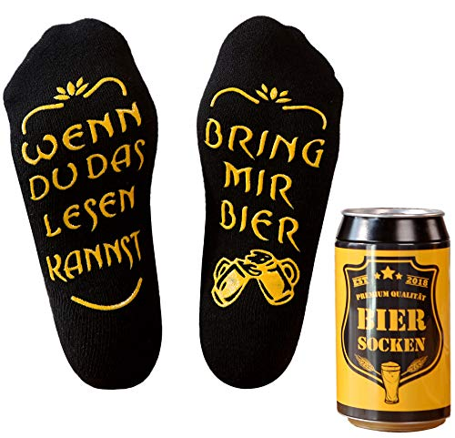 Top-Geschenk24.de Bier Socken Herren, Bier Geschenk für Männer, Weihnachtsgeschenk, lustige Socken...