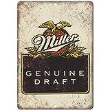 VEHFA Genuine Miller Draft Vintage Beer Ad 8' X 12' Reproduction Metal Sign E
