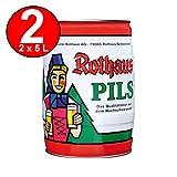 2 x Rothaus Pils 5 L Partyfass 5,1% vol