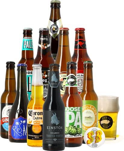 Craft Beer Box - Biertasting - Probierpaket (12 Biere aus aller Welt)
