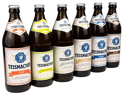 Ettl Bräu Teisnacher Gemischtes Sixpack, Sechser-Pack inkl. Pils, Natur Radler, Zwickl, Weißbier,...