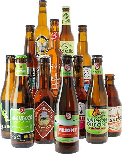 Craft Beer Box - Biertasting - Probierpaket (12 Bio-Craft-Biere aus aller Welt)
