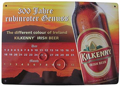 Unbekannt Kilkenny - Irish Beer 300 Jahre rubinroter Genuss - Endloskalender - Blechschild 21 x 15...