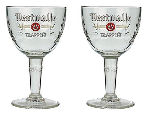 Westmalle belgische Biergläser, Trappist, 2 Stück