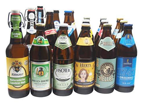 Bierwohl I Geschenkidee I Das Helle I Bierset mit diversen Hellen aus Franken und Umgebung I 18x...