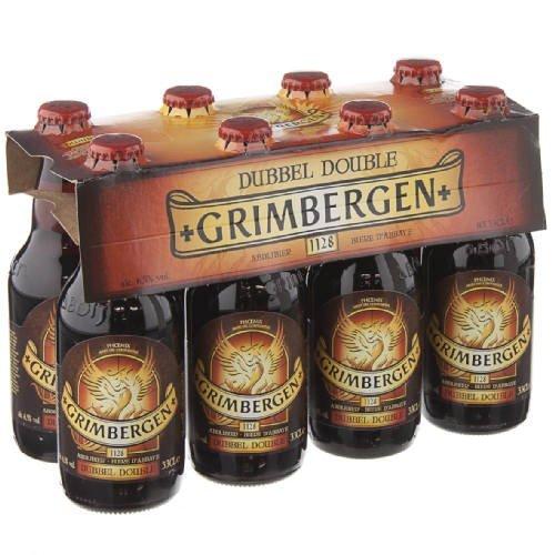Original belgisches Bier - GRIMBERGEN Double 6,5% vol. 8 x 33 cl, Abteibier, hohe Gärung,...