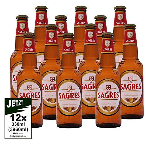 Sagres Cerveja Alc. 5.0% Vol. 12er Pack 330ml (3960ml) - Bier aus Portugal, Lager