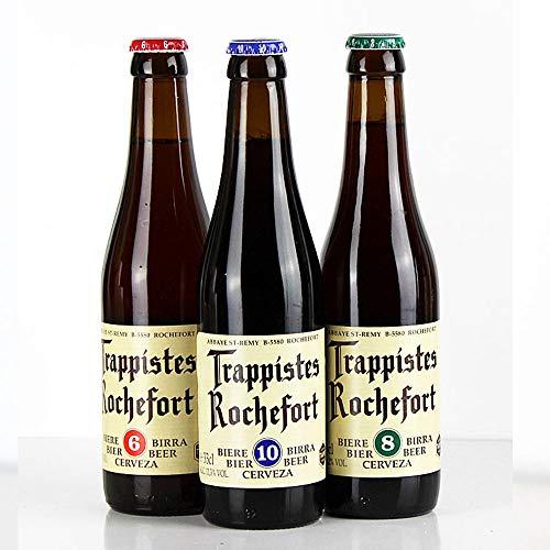 Rochefort Trappistenbier - 3er Bier Set - aus Belgien - je 0,33l von.BierPost.com
