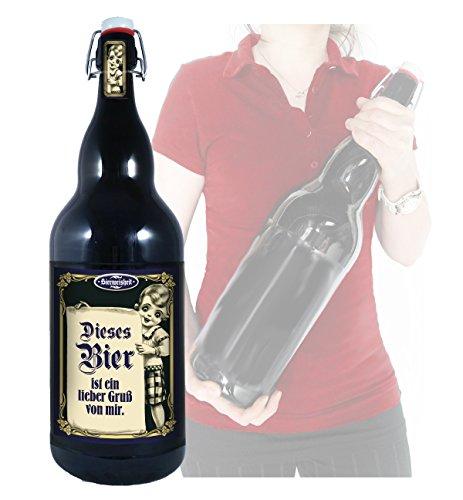 Dieses Bier - 3 Liter XXL-Flasche Bier mit Bügelverschluss