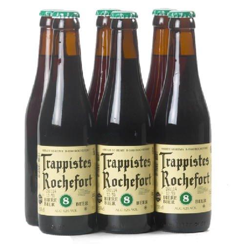 Original belgisches Bier- Trappist Rochefort'8' 9,2% vol 6x33cl. Karneval und Party!!
