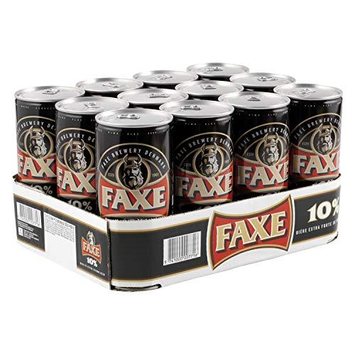 FAXE 10% Dänisches Starkbier 12 x 1 l Dosenbier, Starkes Lagerbier