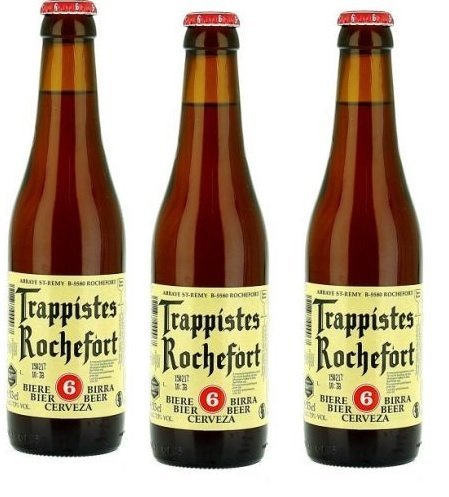 8 Flaschen Trappistes Nr 6 Rochefort 7,5% Vol. Belgisches Bier inc. Pfand
