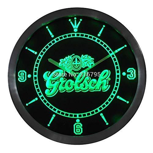 GRENSS nc0002 Grolsch Bier Neonlicht Schilder LED Wanduhr-Blau