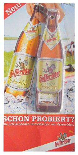 Brauerei Hasseröder - Hasseröder Radler - Flaschenöffner in Flaschenform