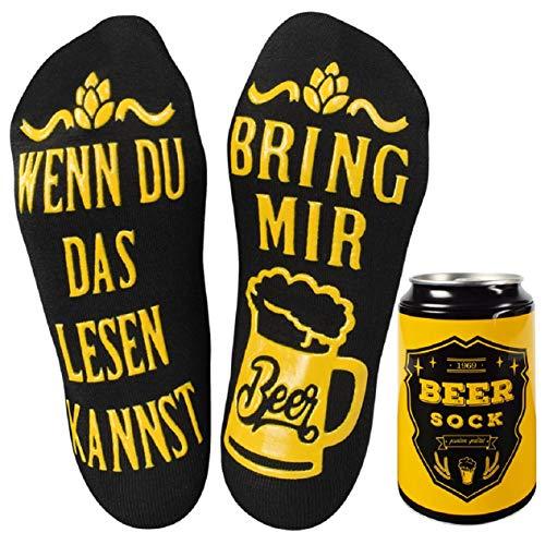 UMIPUBO Bier Socken Lustige Socken WENN DU DAS LESEN KANNST BRING MIR BEER Fun Socken Wintersocken...