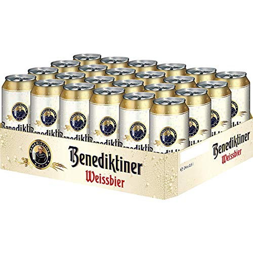 24 Dosen a 0,5 L Benediktiner Weißbräu inc. 6.00€ EINWEG Pfand 5,4% Vol. Weißbier
