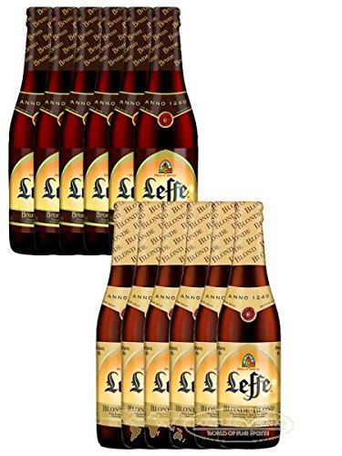 Leffe Biermix Belgian Bier 6 x 0,33 Liter hell und 6 x 0,33 Liter dunkel