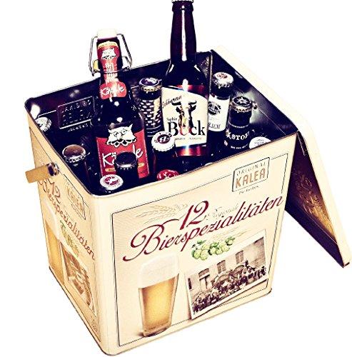 Kalea Bier-Box, Metallbox mit 3D-Prägung, Bierspezialitäten, Perfekte Geschenkidee für Männer,...