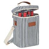 Kato Kühltasche für 4 Flaschen- Flaschenträger für Wein & Bier, gepolsterte 4 weinkühltasche...