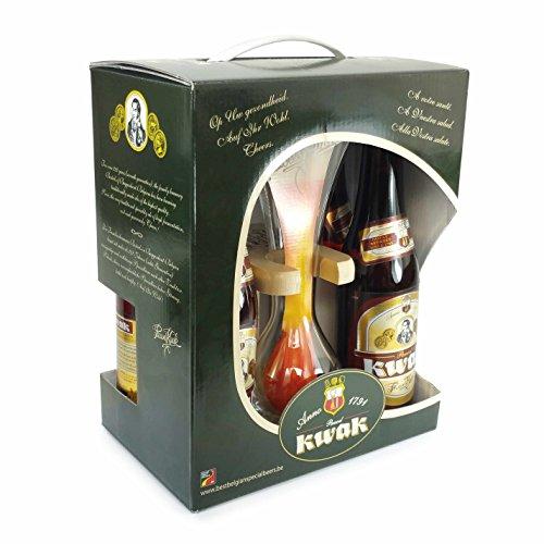 Pauwel Kwak Bier geschenke mit 4 x 0,33L + koetsierglas