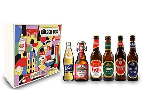 Kölsch 6er Bier Set - Sion 0,25L (4,8% Vol.) + Gaffel (4,8% Vol) + Früh (4,8% Vol.) + Gilden (4,8%...