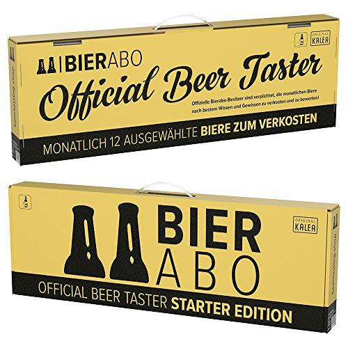Beer Tasting Abo | monatlich 12 Bier-Spezialitäten verkosten | Inkl. Verkostungsguide, Bierrezepte...