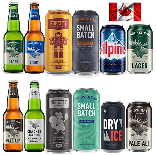 Moosehead Bierpaket BEST OF 12er Pack original kanadisches Bier - auch als perfektes Bier Geschenk...