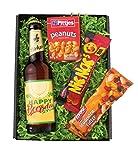 Bier-Geschenkbox Happy Beersday mit Namenseindruck auf dem Bieretikett