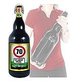 70 Jahre - Herzlichen Glückwunsch - 3 Liter XXL-Flasche Bier mit Bügelverschluss