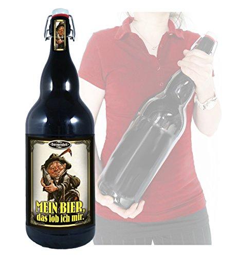 Mein Bier, das lob ich mir - 3 Liter XXL-Flasche Bier mit Bügelverschluss