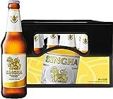 Singha Orginal thailändisches Bier, 5% Vol. (11 Grad Plato) Pils in der Flasche, Mehrweg (24 x 0,33...