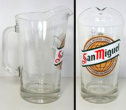 San Miguel Pitcher 1,5L Krug Glas Bier