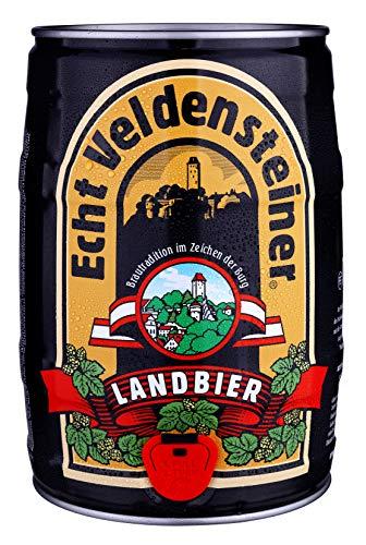 Veldensteiner Landbier 5 Liter Fass/Dose – Partyfass mit Zapfhahn – Internationales Bier nach...