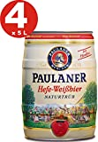 4 x Paulaner Hefe-Weissbier Naturtrüb 5,5% vol 5 Liter Partyfass