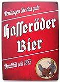Hasseröder - Verlangen Sie das gute Hasseröder Bier - Blechschild 20 x 30 cm