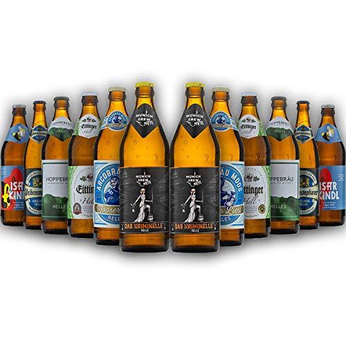 Bayrisches Helles-Geschenk-Set in Bierbox (12x0,5l Bier aus Bayern) | Ein Mix aus verschiedenen...