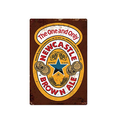 Generic Brands Metall-Blechschild, 30 x 20 cm, Newcastle Brown Ale, London Pride Bar Schild, Bierbar...