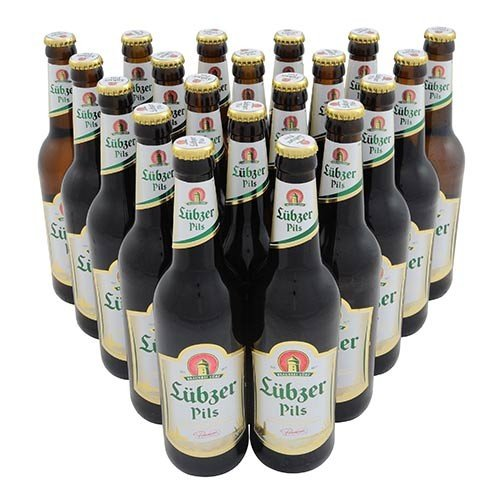Lübzer Pils (20 Flaschen à 0,5 l / 4,9 % vol.) inc. 1.60€ MEHRWEG Pfand