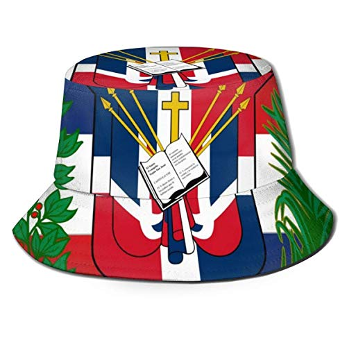 zhouyongz Dominikanische Republik Flagge Fischerhut Herren Damen Packable Jagd Angeln Eimer Cap...